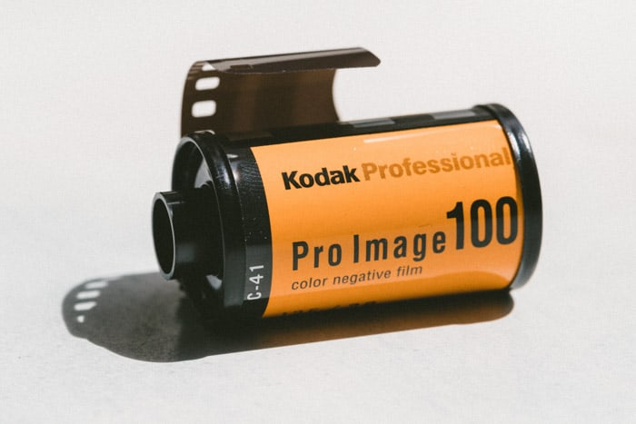 A roll of Kodak professional film