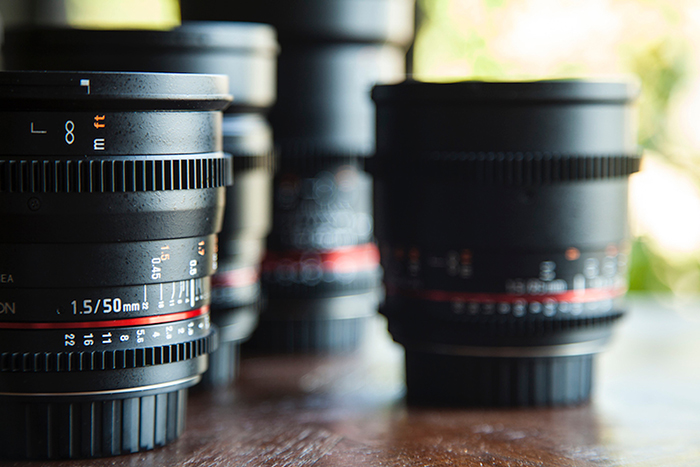Close-up photo of lenses