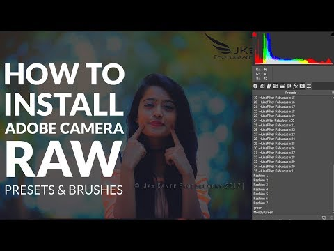How to Install Camera RAW Presets In Photoshop cc & CS6 and Windows 7 & 10