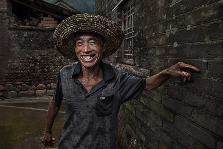 Portrait of a Chinese villager from outside Xing