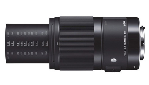 Lens with external focus